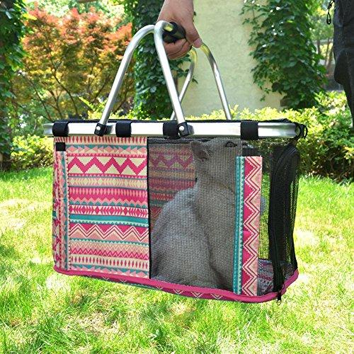 xueyan& Haustier Tasche Katze Tasche Hund Tasche aus der tragbaren Käfig Katze Korb Welpen Hund Produkt Teddy klein Hund Katze Tasche, mei red national wind, large (Korb Mit Blumen Kostüm)