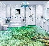 Yosot Tapete Custom Bodenbelag 3D Bodenbelag Malerei Schöne Meerwasser Ripple 3D Wohnzimmer Schlafzimmer Boden Malerei-450cmx300cm