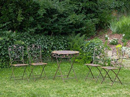 Mesa y 4 sillas de hierro forjado de hierro muebles segunda mano  Se entrega en toda España