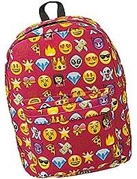 Bolsos de Escuela de Mochila Emoji de Cremallera Muchacho Adolescente de Mujeres Bolso de Hombro de Manera por ESAILQ