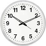 Mishty Analog 32 cm X 32 cm Wall Clock (White, with Glass)