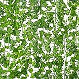 CDWERD 20 Stücke Künstliche Efeu Hängend Girlande Kunstpflanze Efeu Für Büro Hochzeitsfest Gartendekoration