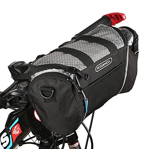 Fahrrad Lenkertasche, Spalyer Fahrradtasche zur Befestigung am Lenker Tragbare Fahrradtasche mit Abziehbarer Band,Schwarz