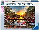 Ravensburger 196067 - Puzzle Biciclette ad Amsterdam, 1000 Pezzi, Multicolore