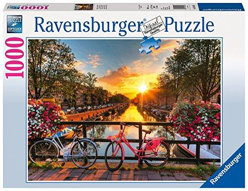 Ravensburger Italy 196067 - Puzzle Biciclette ad Amsterdam, 1000 Pezzi, Multicolore