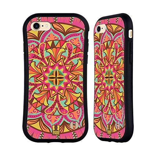 Head Case Designs Paradiesliebe Mandala Blumen Hybrid Hülle für Apple iPhone 7 / iPhone 8 (Blume Backplate)