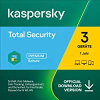 Kaspersky Total Security 2021   3 Geräte   1 Jahr   Windows/Mac/Android   Aktivierungscode per Email