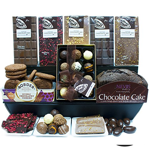 LUXURY CHOCOLATE HAMPER - Exclusive Eden4chocolates Chocolate Hampers & Luxury Chocolates for Occasions & Celebrations Year Round - Perfect for Birthday Easter Christmas Mothers Day and Fathers Day