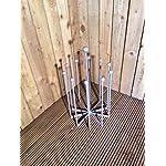 DCB Fabrication Carousel Boot Holder Plain Bar 5 Pair