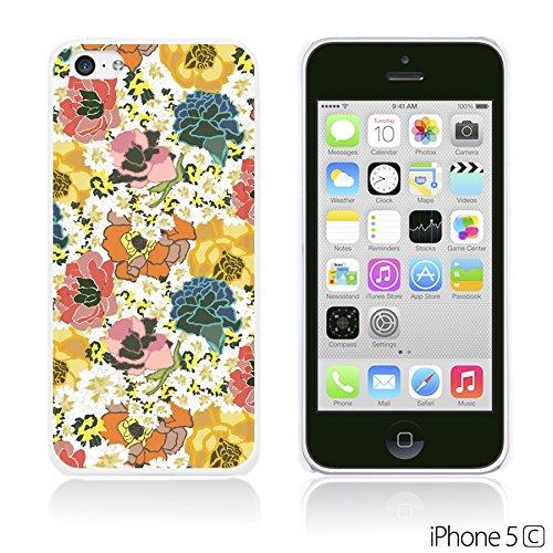 OBiDi - Flower Pattern Hardback Case / Housse pour Apple iPhone 5C - Watercolor Flower Print Colorful Floral Print
