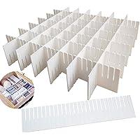 SPIRITUAL HOUSE 12PCS DIY Plastic Grid Drawer Dividers,White Adjustable Sock Underwear Dresser Drawer Organizers Divider…