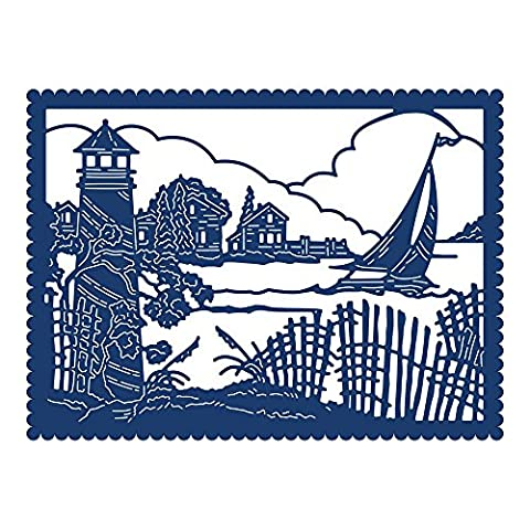 Tattered Lace Nautical Tapestry Die, Metal, Silver, 10.3 x 14 x 0.3 cm