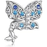 FOREVER QUEEN Farfalla Charms Bead Per Bracciale Collana 925 Sterline d'argento Ciondoli Ciondolo Charms