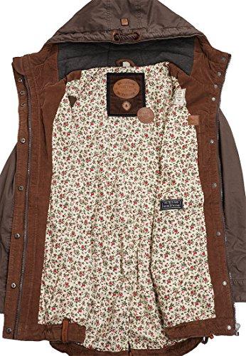 Naketano Female Jacket Kaktus Auffe Zeche Brownie