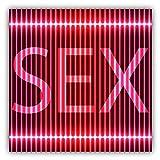 Sex Neon Signboard Hochwertigen Auto-Autoaufkleber 12 x 12 cm