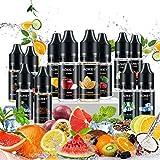 E-Liquide, 12x10ml Vape Ejuice Liquide, Vape E Liquide Cigarette, E Cig Vape E Liquide, E-Cigarette Vape Ejuice No Nicotine - Autorisation AOKEY
