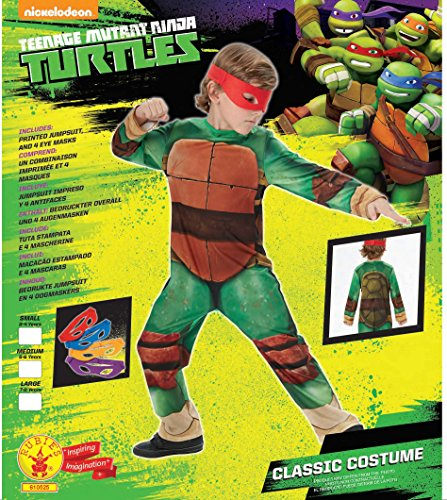 Image of Rubie's Official Child's Teenage Mutant Ninja Turtle Classic Costume - Medium 5 -6 Years