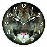 RELOJ DE PARED DISENO LEOPARDO RELOJ CON MOTIVO DE ANIMAL - CUARZO - Tinas Collection