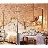 Mosquitera de acero inoxidable con marco para la cama, Plateado, matrimonio