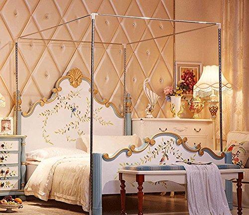 Mosquitera acero inoxidable marco cama, Plateado