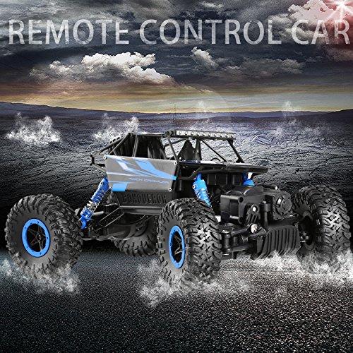 RC Auto kaufen Crawler Bild 6: H&B HB HB-P1802 Ferngesteuertes 4WD Rock Crawler RC Car Geländewagen Auto 1:18 Fernbedienung Monster Truck/Off Road Fahrzeug (Blau)*