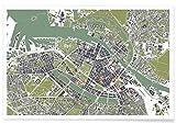 """JUNIQE® Poster 30x45cm Stadtpläne Kopenhagen - Design """"Copenhagen - Engraving"""" (Format: Quer) - Bilder, Kunstdrucke & Prints von unabhängigen Künstlern entworfen von Planos Urbanos"""