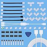 Kit de Conector de Tira de LED,Kits de Conectores de Tiras LED sin Soldadura para 4 Pines 10 mm 5050 RGB con Cable Divisor de