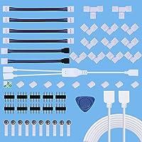 5050 Kit Connettore Striscia LED a 4 pin 10mm, Comprende Connettore LED Strip, 2M Luce Striscia Cavo Prolunga di RGB…