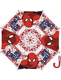 Parapluie transparent enfant garçon Spider-man Rouge Diamètre 84cm