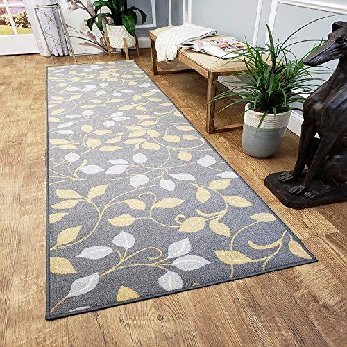 Maxy Home Hamam Collection Gummi Rückseite Floral1Bereich Teppiche, Synthetisch, Grey, Ivory, 20