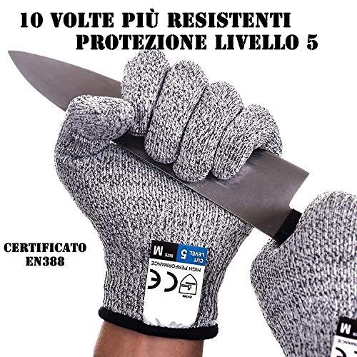 guanti da lavoro antitaglio Guanti Antitaglio