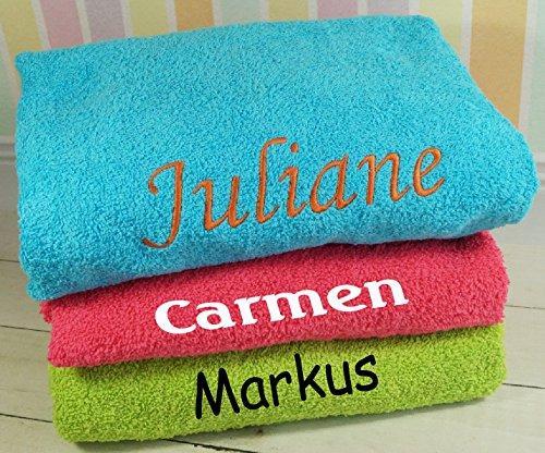 ★ Handtuch mit Namen bestickt ★ Duchtuch ★ Geschenk ★ Handtuch ★ 550 g/m2 ★