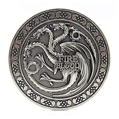 Fire & Blood Game Of Thrones Cosplay Belt Buckle