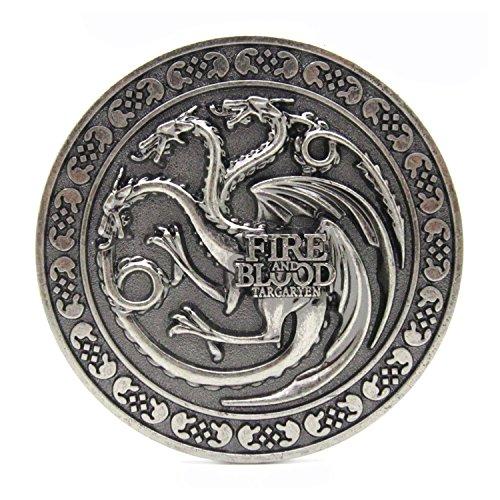 Patch Nation Fire & Blood Game of Thrones Cosplay Belt Buckle Gürtelschnalle Wappen
