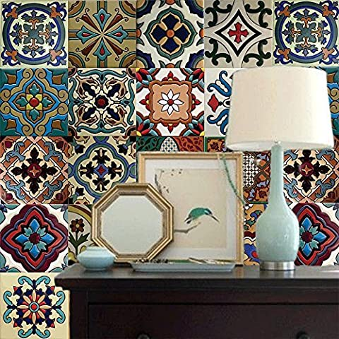 Mexikanische Malibu Style Wallpaper - Peel und Stick - Selbstklebend - Home Decor DIY - Packung mit 2 Panels
