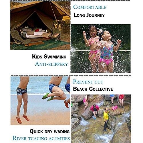 Amazmall Aquaschuhe Wassersportschuhe Strandschuhe Surfschuhe mit Rutschfeste Sohlen f¨¹r Damen & Herren Blau