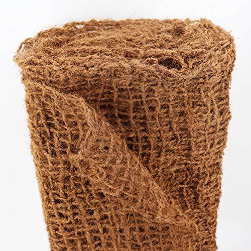 Ufermatte Böschungsmatte I Zum Sonderpreis I 30m Kokosgewebe Kokosfaser-Matte 1m breit I Teichrand Pflanzen Wurzel-Schutz Kokosgeflecht Hangsicherung Bewuchsmatte