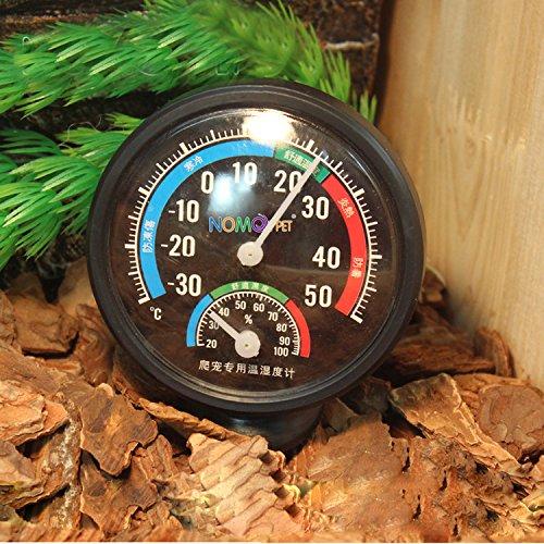 Reptile Thermometer Luftfeuchtigkeit Gauge mit Farbe Codes für Pet Tank Terrarium
