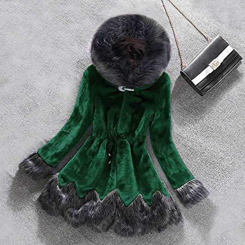 Winter gefälschte Fuchspelzkragen mit Kapuze Frauen Mantel gefälschte Nerz Haare Pelz Oberbekleidung Dicke warme Jacken Frauen