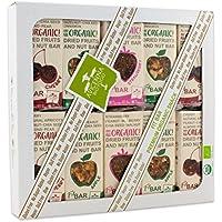 Fit BAR Barritas de Frutos Secos BIO Sin Gluten | Premium Organic Snack | Raw, Vegano, Merienda de Frutas, No GMO, Libre de Lácteos, Vegetariano, Sin Azúcar Añadido, Barras de Frutas secas & Nueces 30g (paquete de 20)