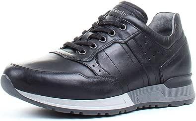 Sneaker Uomo NeroGiardini Nero o Blu Pelle Fondo Bicolore A901190U. Scarpa dal Design Raffinato. Collezione Autunno Inverno 2019 2020.