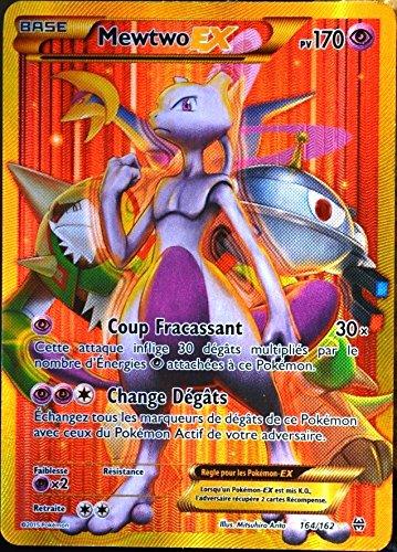 Pokémon Karte 164/162 tolle Mewtu-EX SECRETE FULL ART 170 PV-Reihe XY IMPULSON TURBO-FR XY8 Selten NEU (Mega Seltene Pokemon Karten)