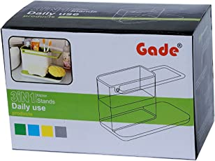 Gade Kitchen Sink Tidy Self Draining Sink Caddy With Base Stand Organizer Brush Sponge Cleaning Cloth Holder