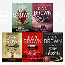 robert langdon series dan brown collection 5 books set (angels and demons, the da vinci code, the lost symbol, inferno, origin)