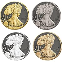 WALKING LIBERTY Prestige Set 4x1 Oz Moneta Argento 1$ Dollar US Mint 2016 Monete (1 Oz Argento Bu Bu Coin)