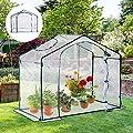 Outsunny® Foliengewächshaus Gewächshaus Treibhaus Tomatenhaus mit Fenster, Stahl+PVC, 180x105x150cm von Outsunny auf Du und dein Garten