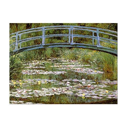Bild ohne Rahmen - Claude Monet Die japanische Brücke 40x30cm ca. A3 - Kunstdruck Poster Alte Meister -