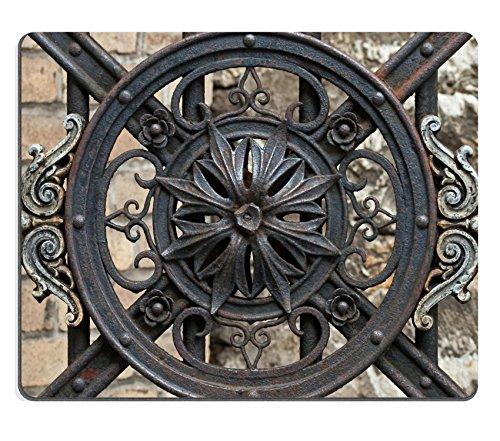 msd-mousepad-de-goma-natural-vintage-forjado-decorativo-elemento-de-puerta-de-metal-en-old-parte-de-