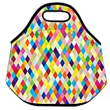 Lionkin8 Lunch Bags, Colorful Cross Stri...