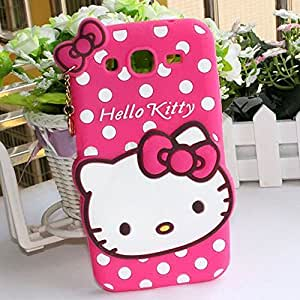 AINCB INDIA Hello Kitty Silicone With Pendant Back Case Cover for SAMSUNG GALAXY Grand i9082 - Pink